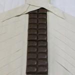 Trenza de hojaldre rellena de chocolate