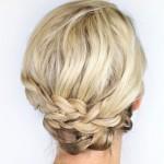 Recogido bajo con trenzas ideal para pelo fino