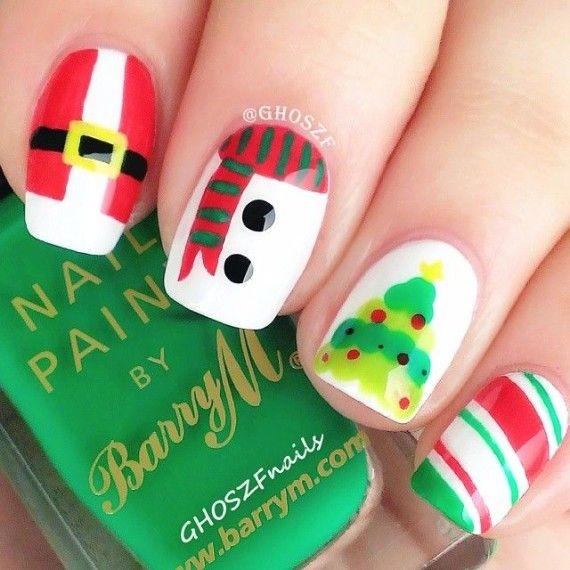 Manicura Fantasía para Navidad - Las Truquideas de Nuria